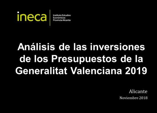 Informe de INECA Análisis Presupuestos GVA 2019. Impacto en la provincia de Alicante